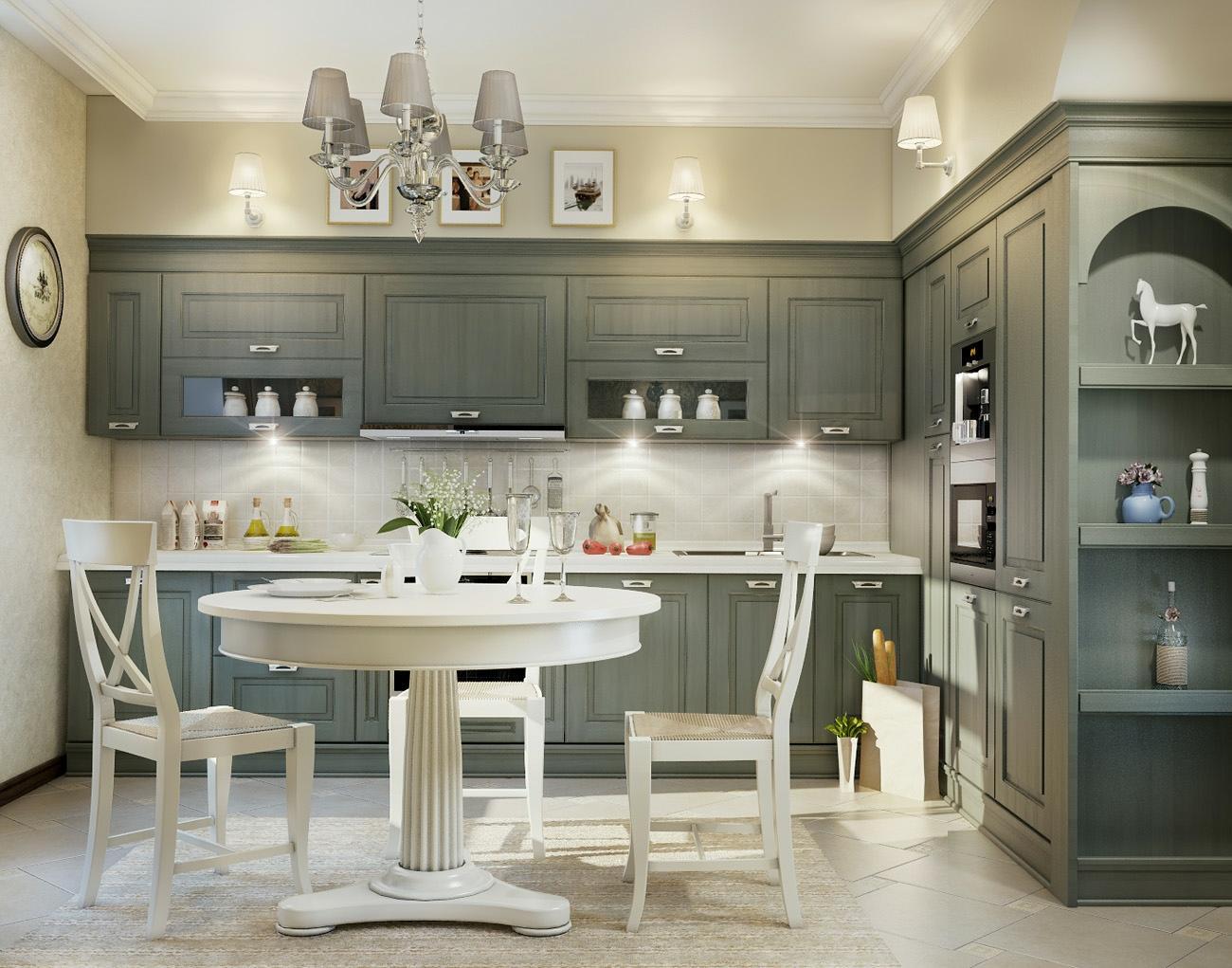 grey traditional kitchen  Interior Design Ideas