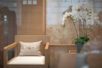 blonde wood coastal soft furnishings floral ricepaper ...