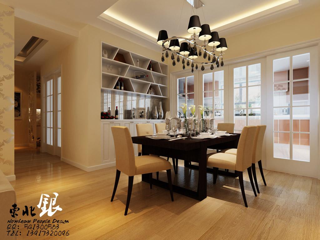 dining well lit  Interior Design Ideas