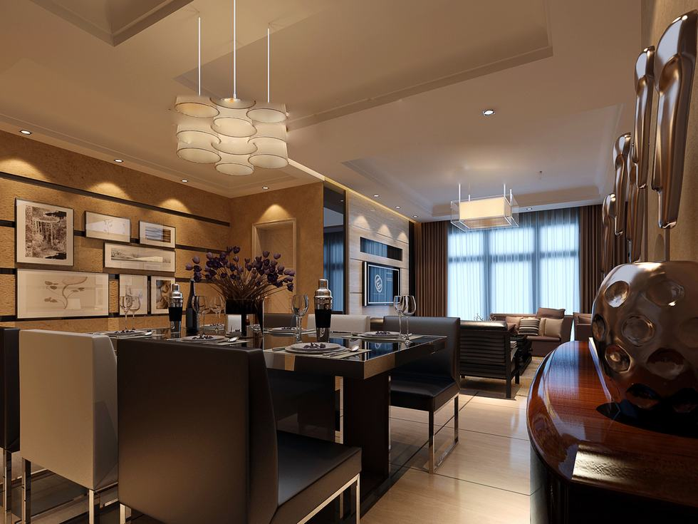 flat screen luxury angular dining lightbox china  Interior Design Ideas
