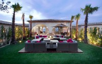 outdoor lounge at dusk | Interior Design Ideas.