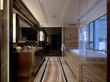 sedimentary marble earthy bathroom with tun steve leung ...