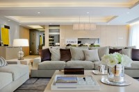 subtle mulberry and cream accessorized modern living steve ...