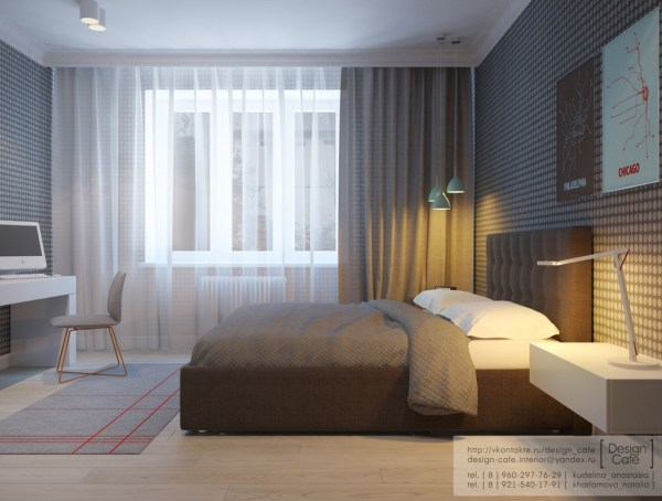 apartment bedroom design ideas Apartment For A Young Family