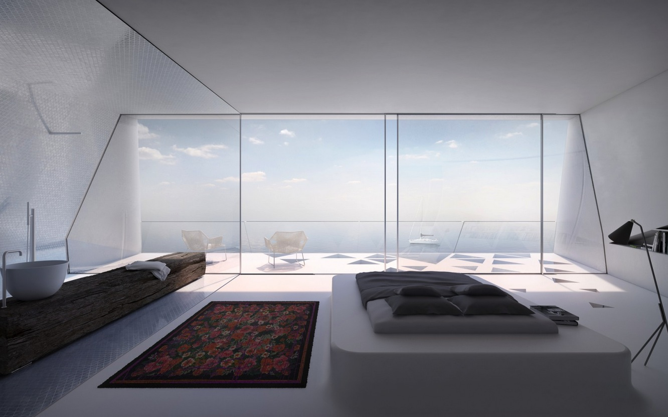 Bedroom With A View Modern Holiday House Greece Interior Design