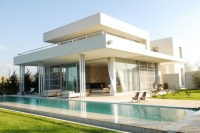 Exterior Modern White Agua House with pool   Interior ...
