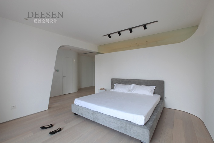 grey furniture living room decor ideas space saving bedroom sleek and white with rail lighting | interior ...