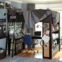 bunk bed with workspace boys room | Interior Design Ideas.