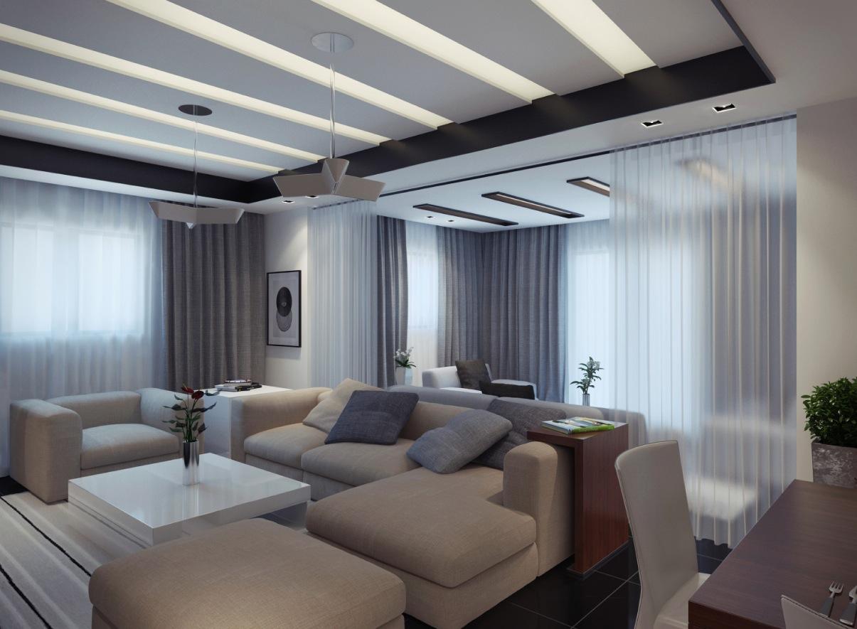 contemporary apartment living room 2  Interior Design Ideas