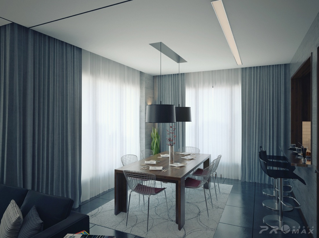 morden living room curtains and blinds three modern apartments: a trio of stunning spaces