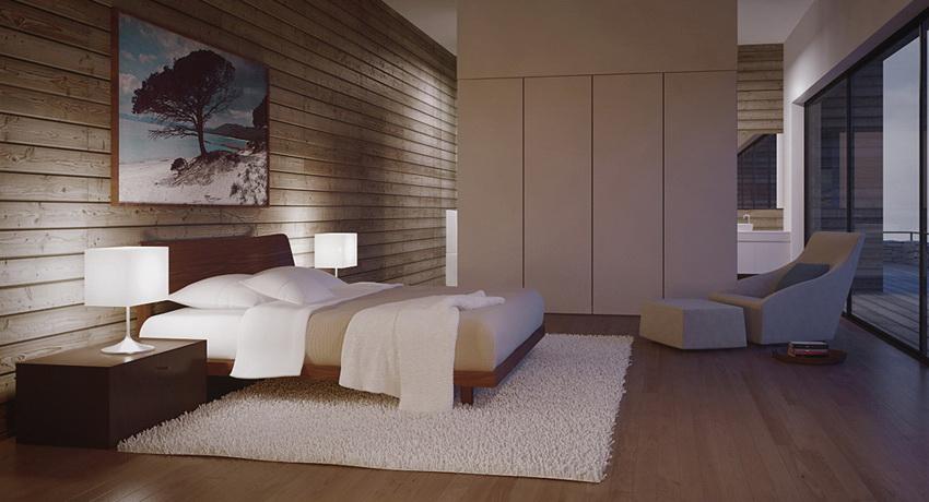 Modern Bedroom With Sleek Cabinetry Interior Design Ideas