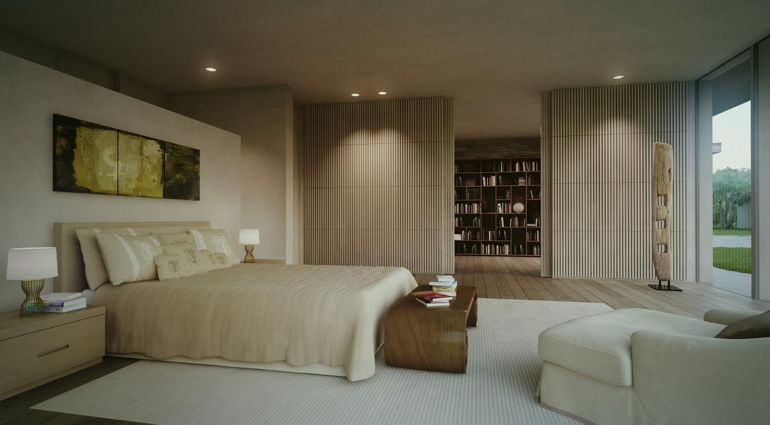 modern cottage master bedroom