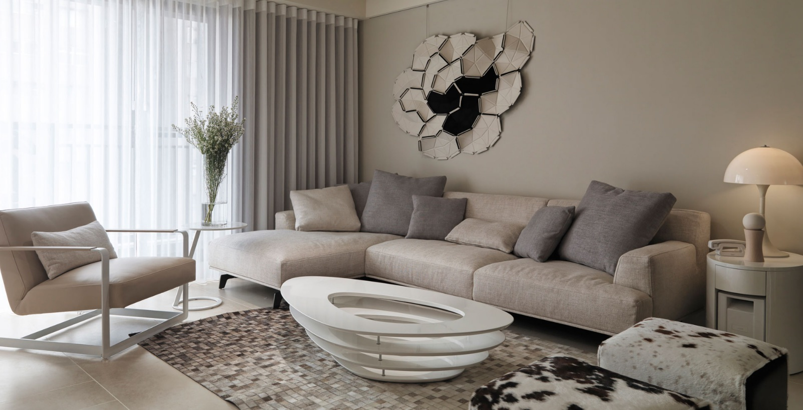 neutral contemporary living room  Interior Design Ideas