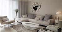 neutral contemporary living room | Interior Design Ideas.
