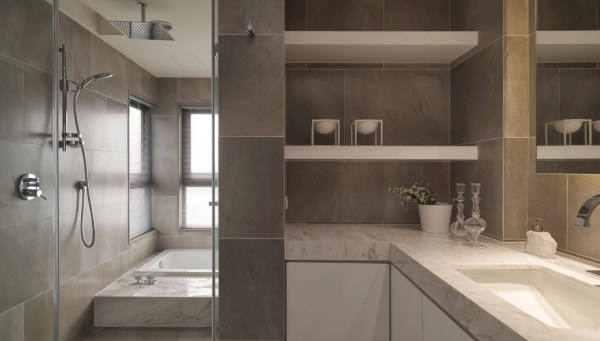 Neutral Contemporary Apartment . Design Studio