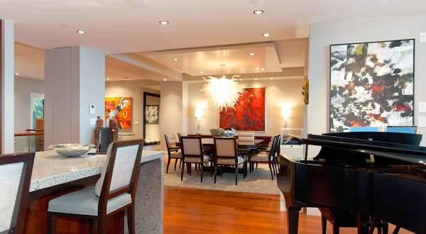 Penthouse Living Room Dining Interior Design Ideas