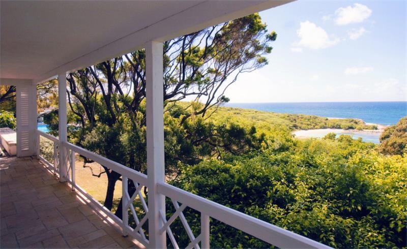 beach house living room furniture ideas paint color gray plantation english colonial home white verandah view ...