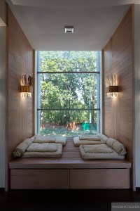 recessed reading nook window with mini day beds   Interior ...