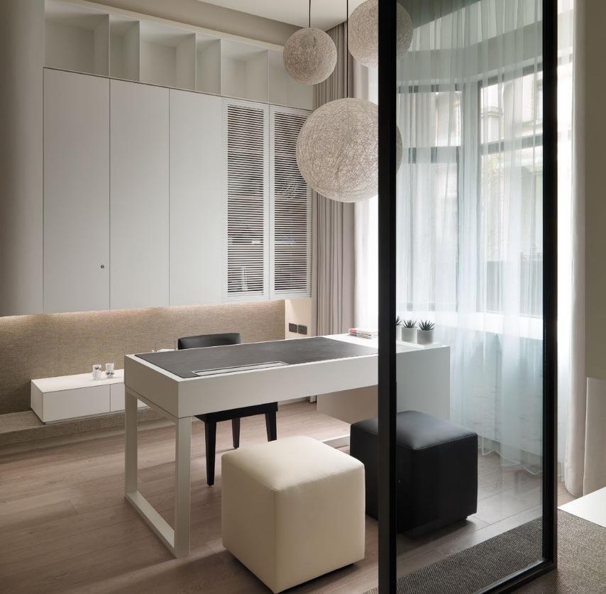 living room office ideas for decoration modern white interior design