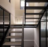 white modern staircase | Interior Design Ideas.