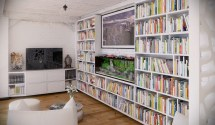 Home Library Interior Design Loft