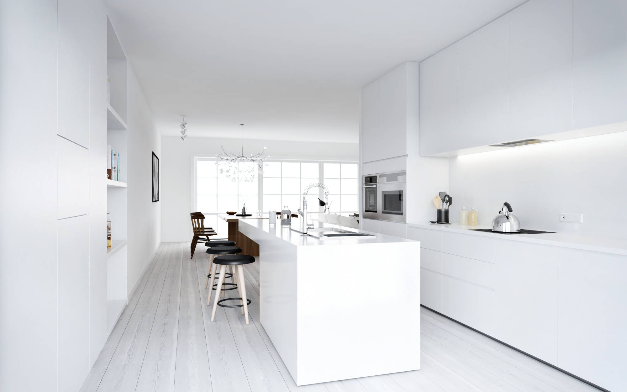 white kitchen decor wooden playsets atdesign nordic style minimalist in