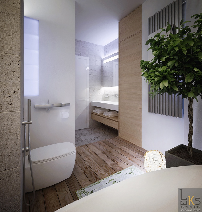 Leks Architects Kiev Apartment Elemental Bathroom With