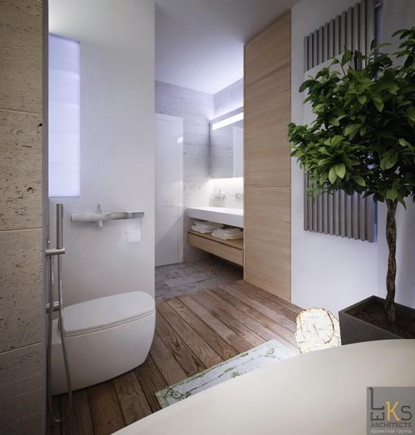 Leks Architects Kiev Apartment- Elemental Bathroom With