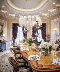 luxury villa dining room | Interior Design Ideas.