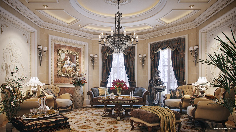 luxury villa living room  Interior Design Ideas