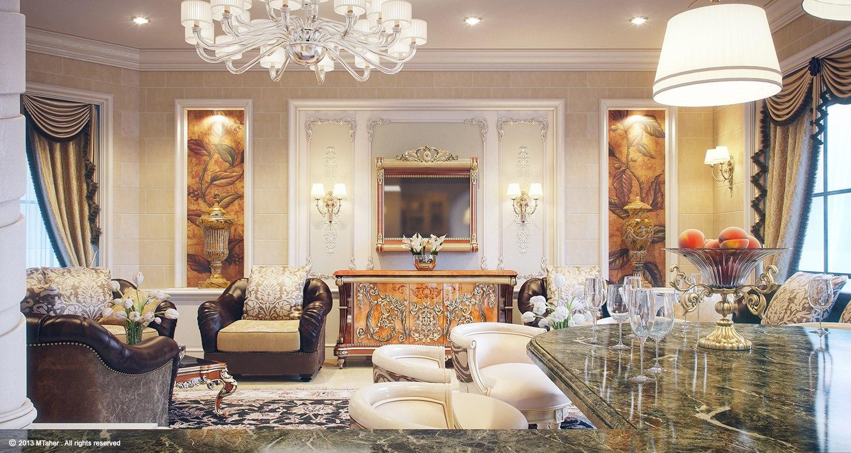 luxury villa lounge 2  Interior Design Ideas