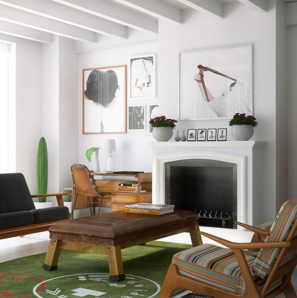 modern loft living room Two Beautiful Urban Lofts Visualized