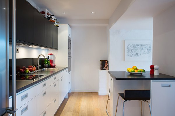 home kitchen design 1920's Tenant House Goes Swedish Modern