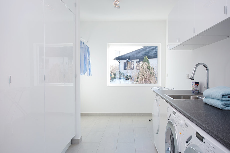 Modern Swedish Villa Laundry Room 1  Interior Design Ideas
