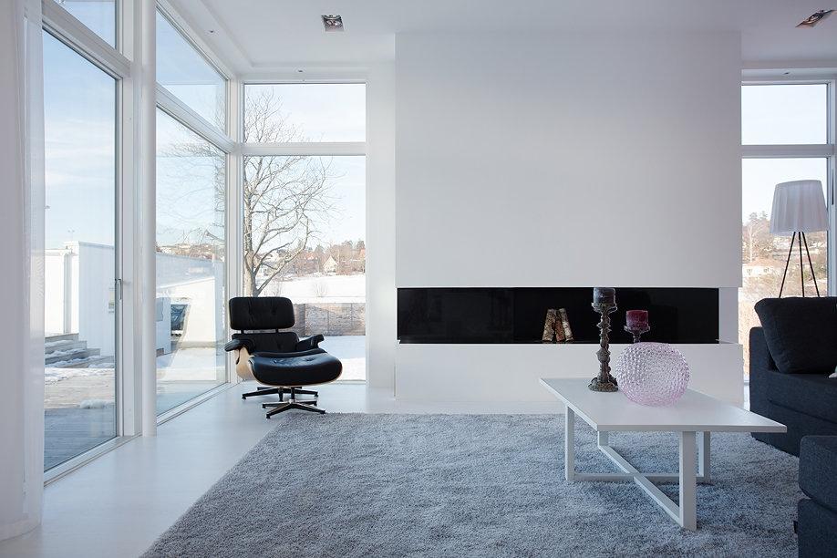 Modern Swedish Villa Living Room 1  Interior Design Ideas