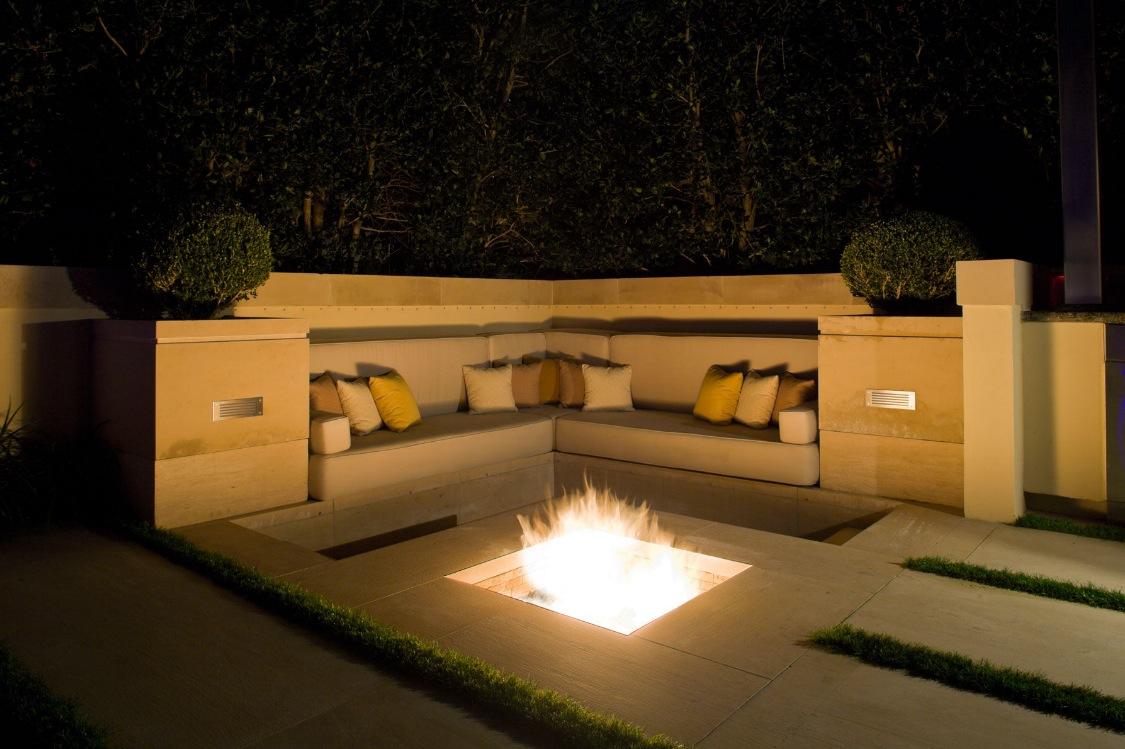 Sunken Fire Pit Ideas Seating