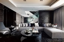 Dark Modern Interior Design Living Room
