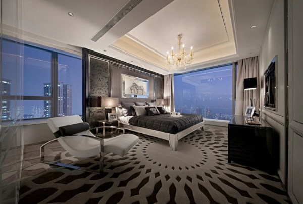 modern master bedroom design Synergistic Modern Spaces by Steve Leung