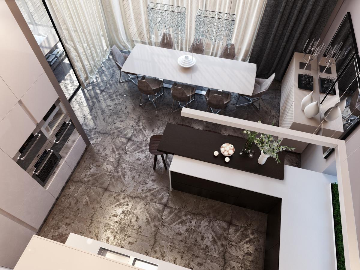 modern neutral dining room kitchen 1 | interior design ideas.