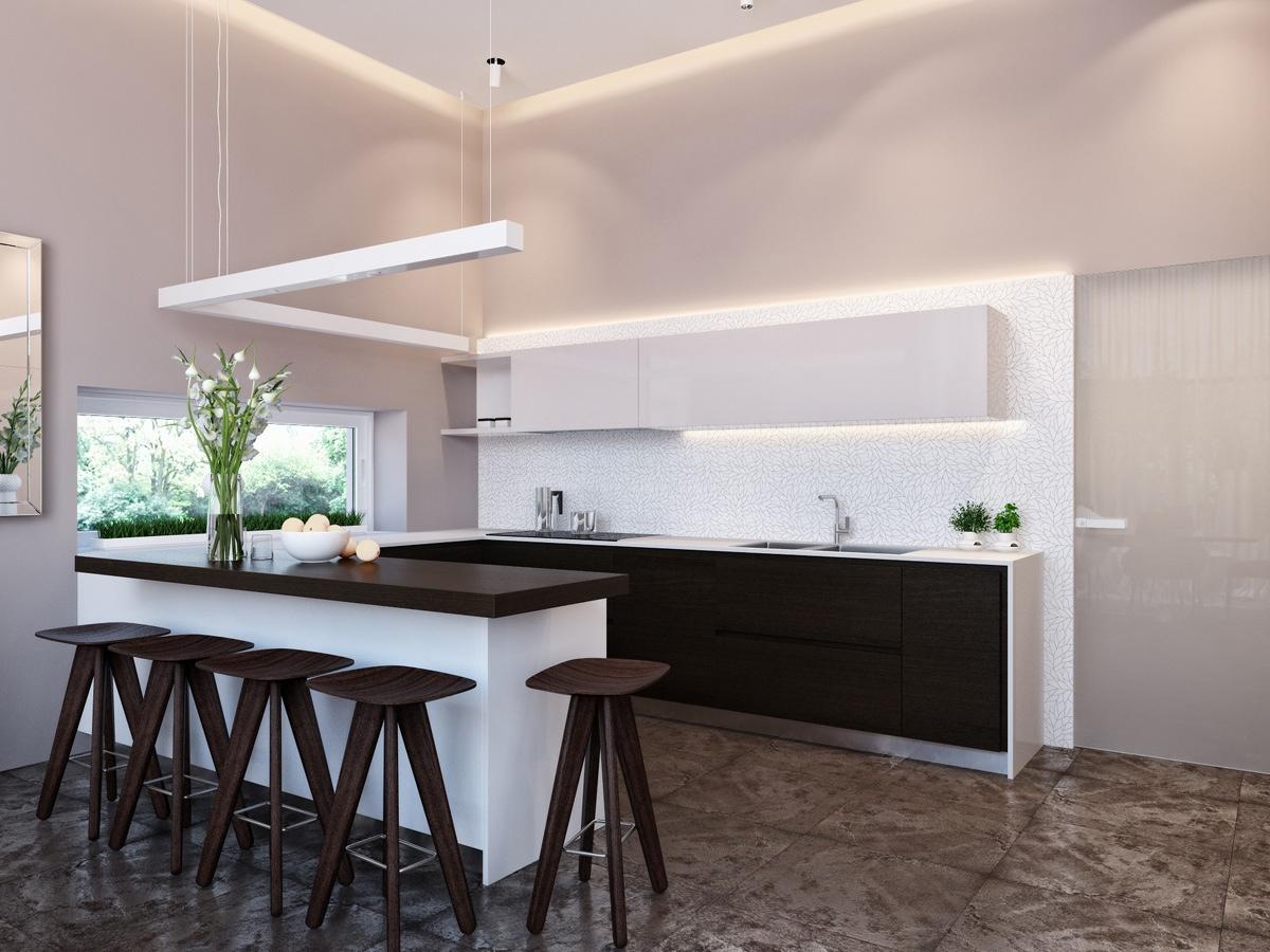 modern neutral dining room kitchen 4  Interior Design Ideas