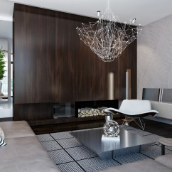 Modern Living Room Design In Nigeria Big Wall Mirrors House Interiors With Dynamic Texture And Pattern