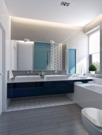 modern vibrant blue bathroom 1 | Interior Design Ideas.