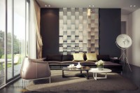 rich palette living with mirrored feature wall | Interior ...