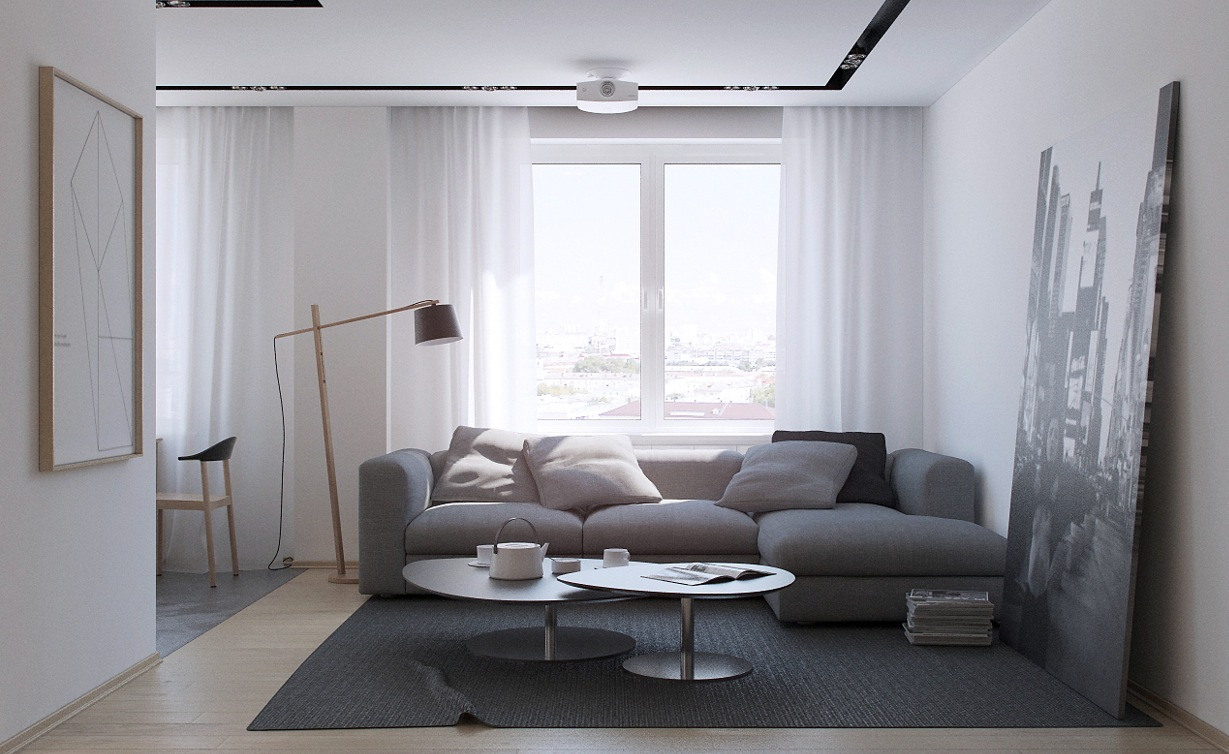 Russian Apartment Living Room 1  Interior Design Ideas