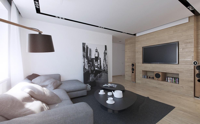 Russian Apartment Living Room 2  Interior Design Ideas