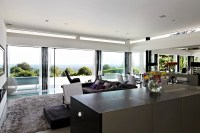 glass wall living room