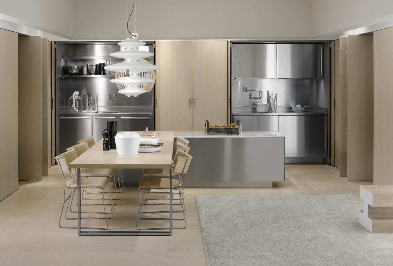 hidden kitchen space recessed walls  Interior Design Ideas