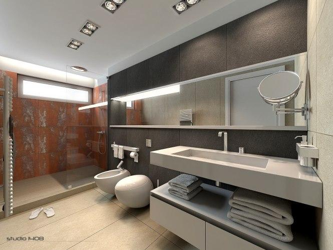 Large Apartment Bathroom Interior