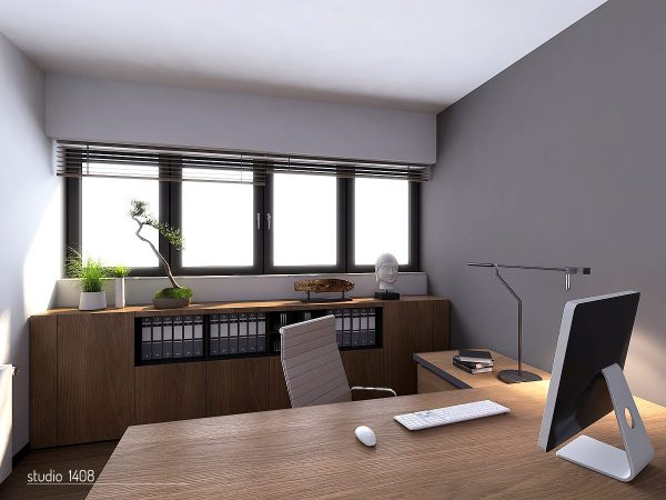 modern office interior design Apartment Living for the Modern Minimalist