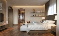 warm bedroom design | Interior Design Ideas.